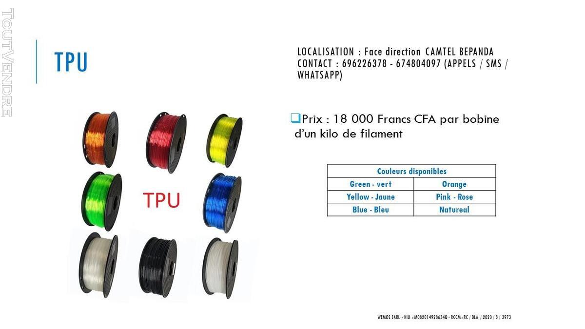 Vente des imprimantes 3D sur douala 741104112