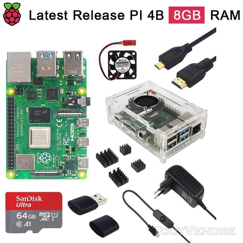 Vente des kits complets Raspberry Pi 4 - 8Gb de ram 774560423