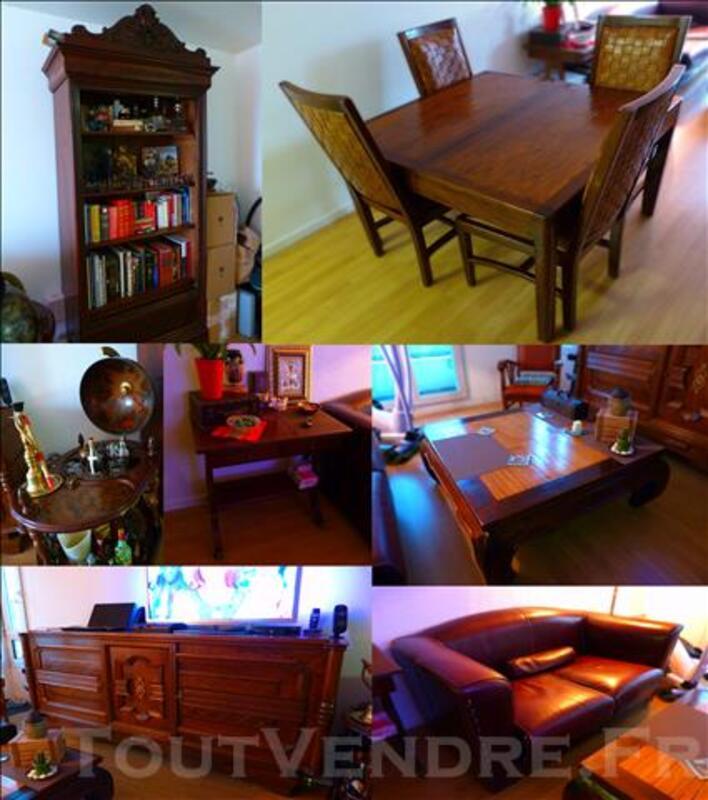 Vente lot mobilier style colonial: Salon - Chambre - Cuisine 80586364