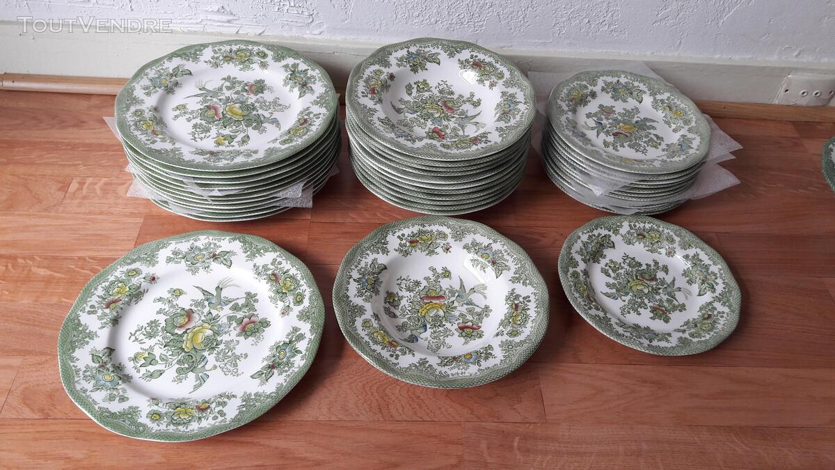 Véritable vaisselle anglaise verte Asiatic Pheasants 201165144