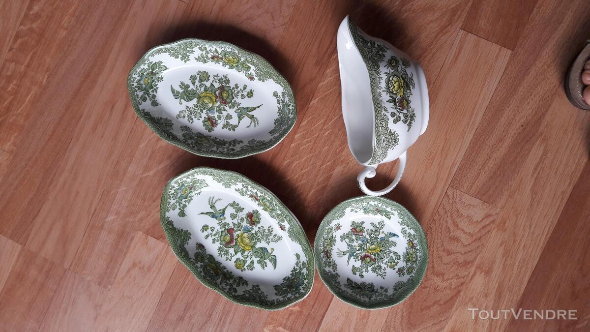 Véritable vaisselle anglaise verte Asiatic Pheasants 201165156