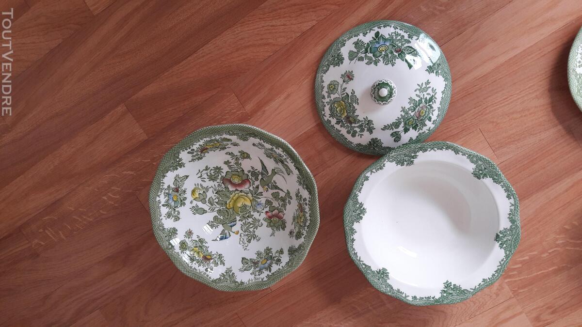 Véritable vaisselle anglaise verte Asiatic Pheasants 201165192