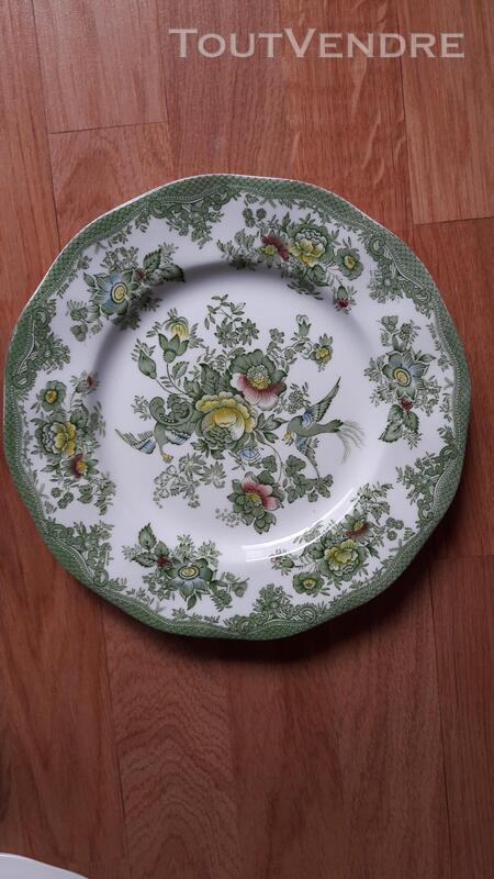 Véritable vaisselle anglaise verte Asiatic Pheasants 201165282