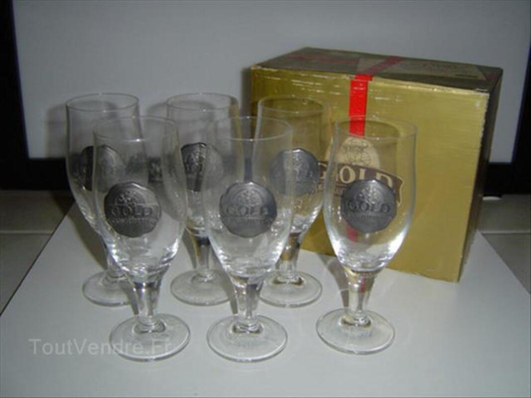 Verres bieres Gold Kanterbrau avec sceau en etain 88337260