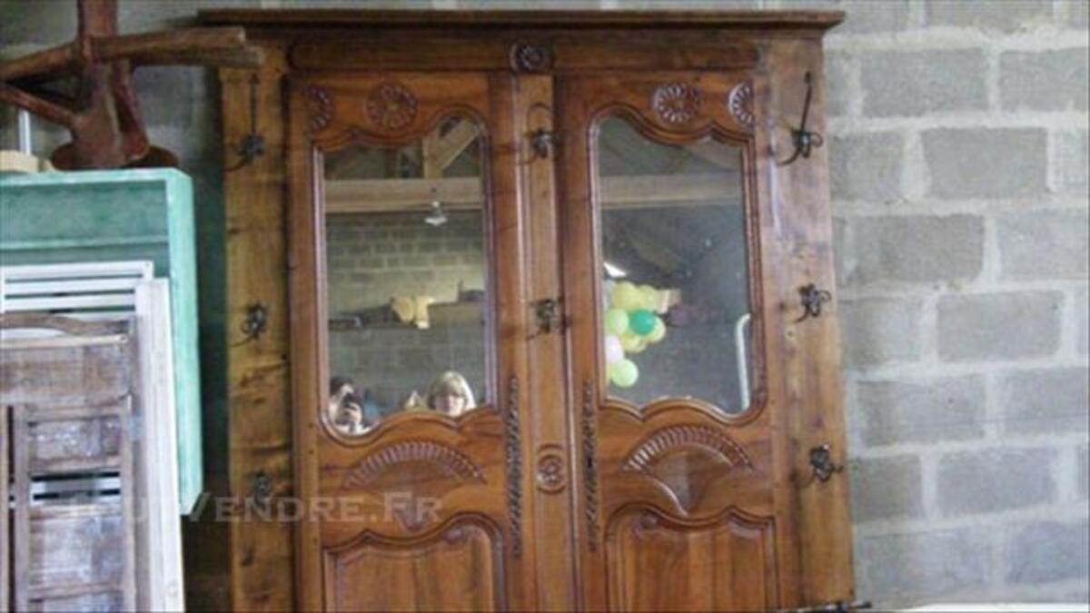 Vestiaire en bois et fer forgé 76202634