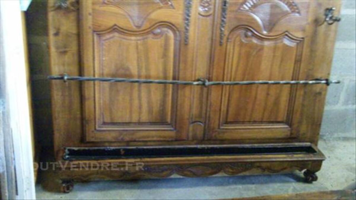 Vestiaire en bois et fer forgé 76202635