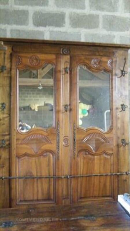 Vestiaire en bois et fer forgé 76202636
