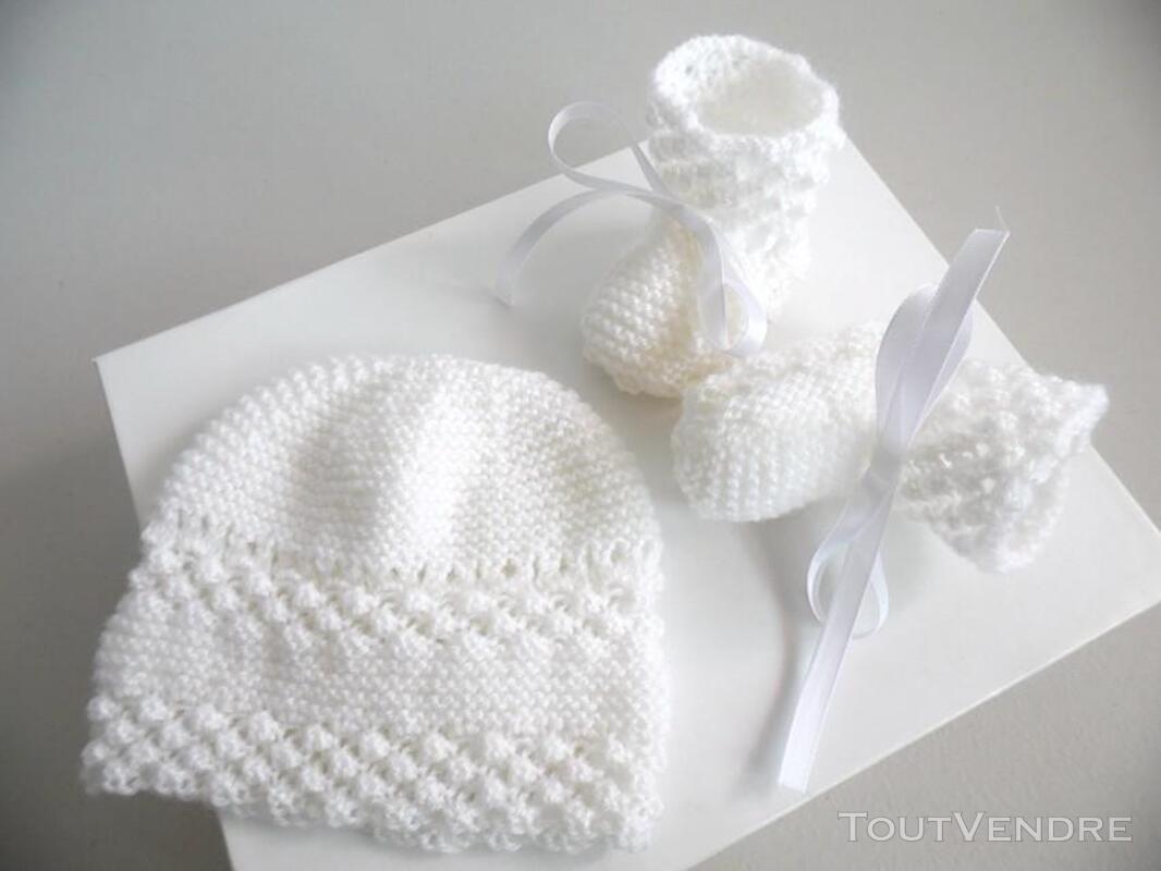Vetement bébé,femme,enfant, tricot laine faitmain 200027208