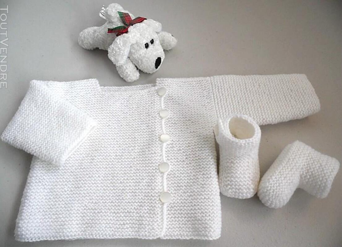 Vetement bébé,femme,enfant, tricot laine faitmain 200027211