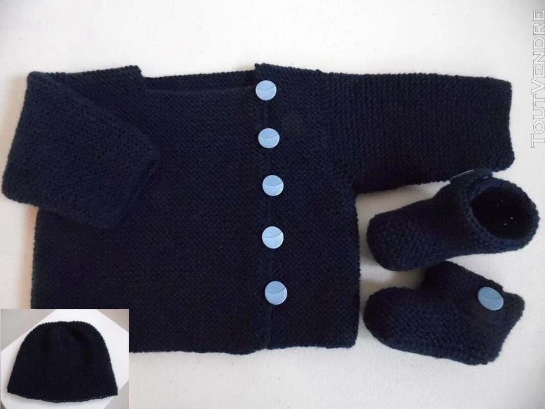 Vetement bébé,femme,enfant, tricot laine faitmain 200027217