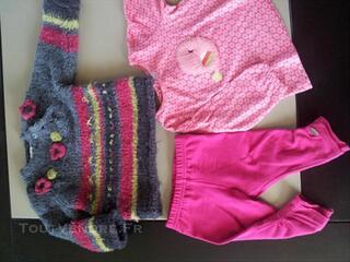 Vêtements bébé fille 6 mois (Catimini, 3 Pommes, DPAM)
