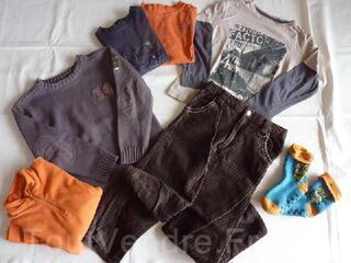 Vêtements garçon hiver 8ans en parfait état LOT 6