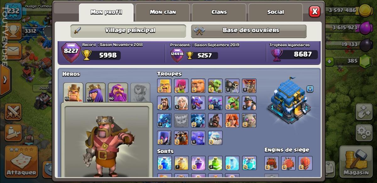 Village clash of clan 644994706