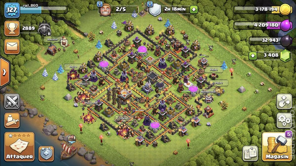 Village Clash Of Clans, HDV 11 avancé, niveau 127 654171030