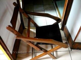 Vintage chaise jardin fauteuil jard très ancien pliable