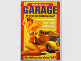 Vintage Pin-Up Plaque Pub Garage en Métal rétro 30 cm X 20cm