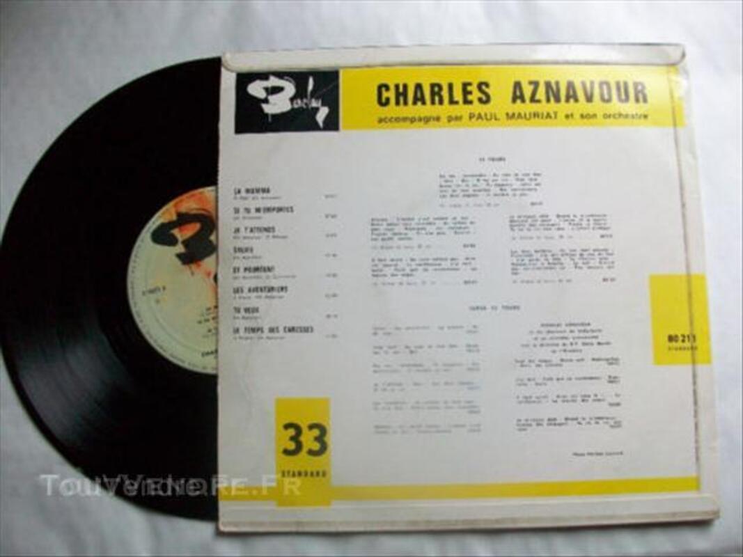 Vinyl 25cm charles aznavour 44273976