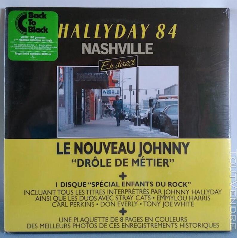 Vinyle 33t Johnny Hallyday Nasheville 84 NEUF 491050097
