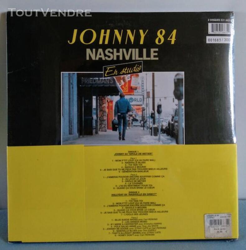 Vinyle 33t Johnny Hallyday Nasheville 84 NEUF 491050100
