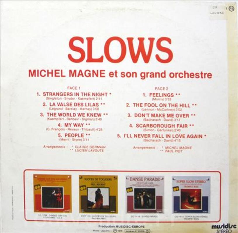 Vinyle 33T Slows michel Magne, son grand orchestre 91591052