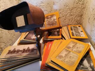 Visionneuse stéréoscopique Holmes avec 103 Cartes suxn