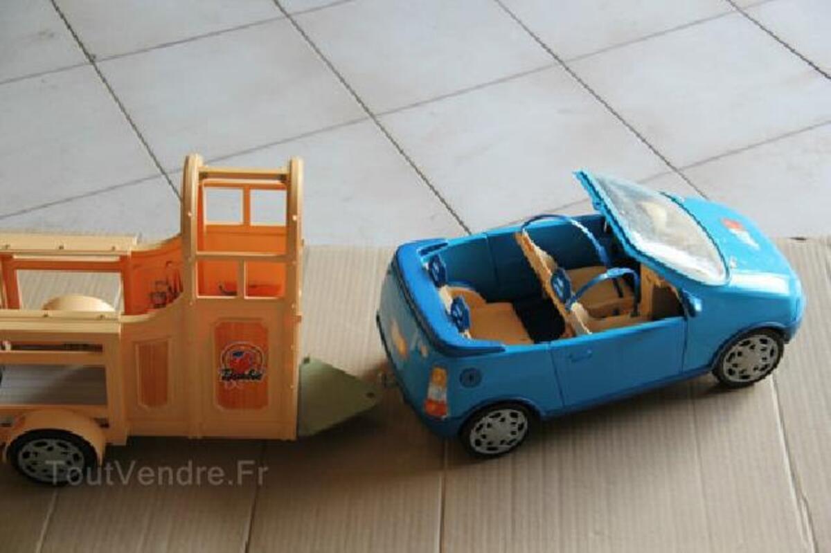 Voiture cabriolet bleue + van pour cheval BARBIE 91483441