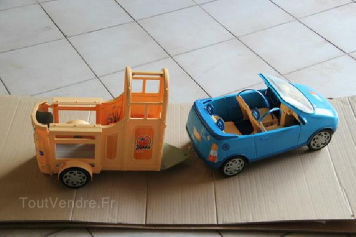 Voiture cabriolet bleue + van pour cheval BARBIE 91483442