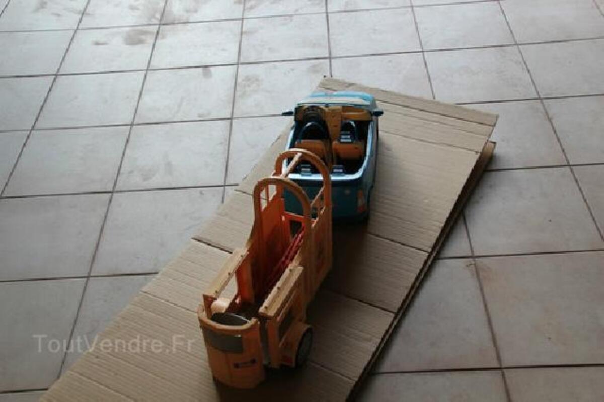 Voiture cabriolet bleue + van pour cheval BARBIE 91483443