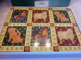 Wilscombe fam animals table place mats x6