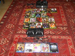 Xbox 1 + 21 jeux + 2 manettes + PS2 + 5 jeux + 2 manete