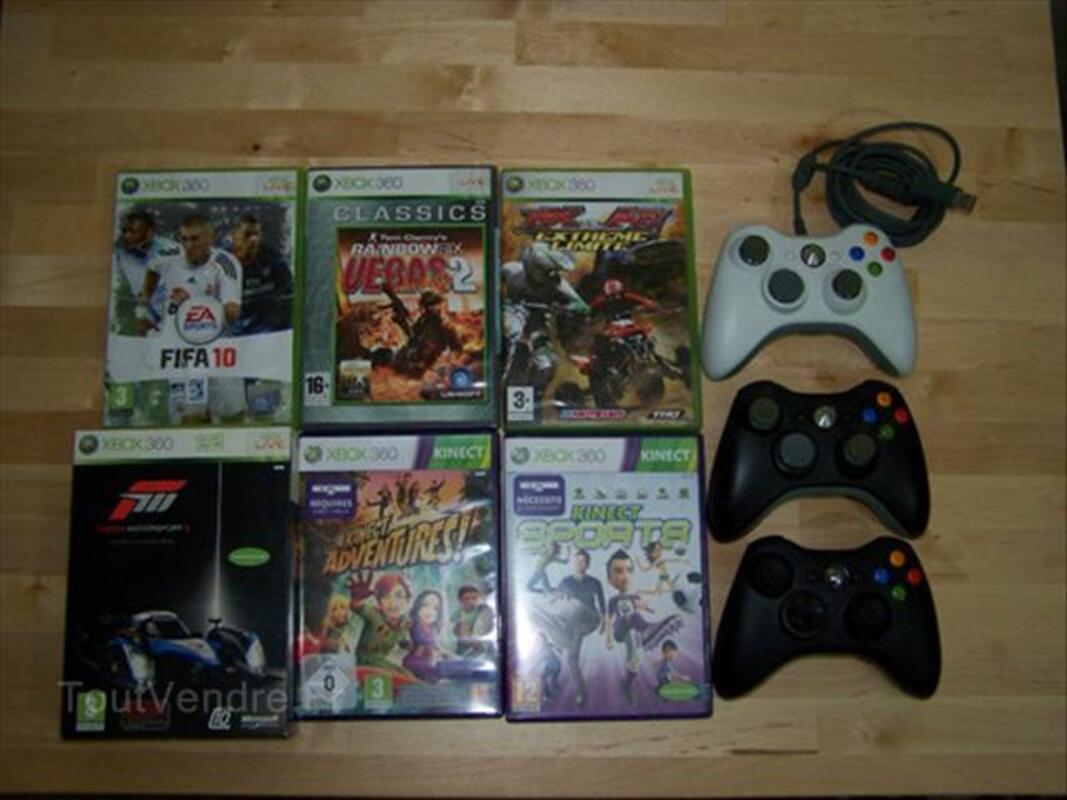 Xbox 360 120 Go + kinect + 6 jeux + accessoires 55789834