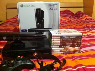 Xbox 360 250go + kinect + 9 jeux