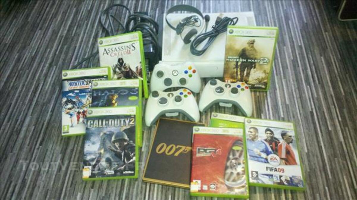 Xbox 360 + 3manettes + 9 jeux 84861040