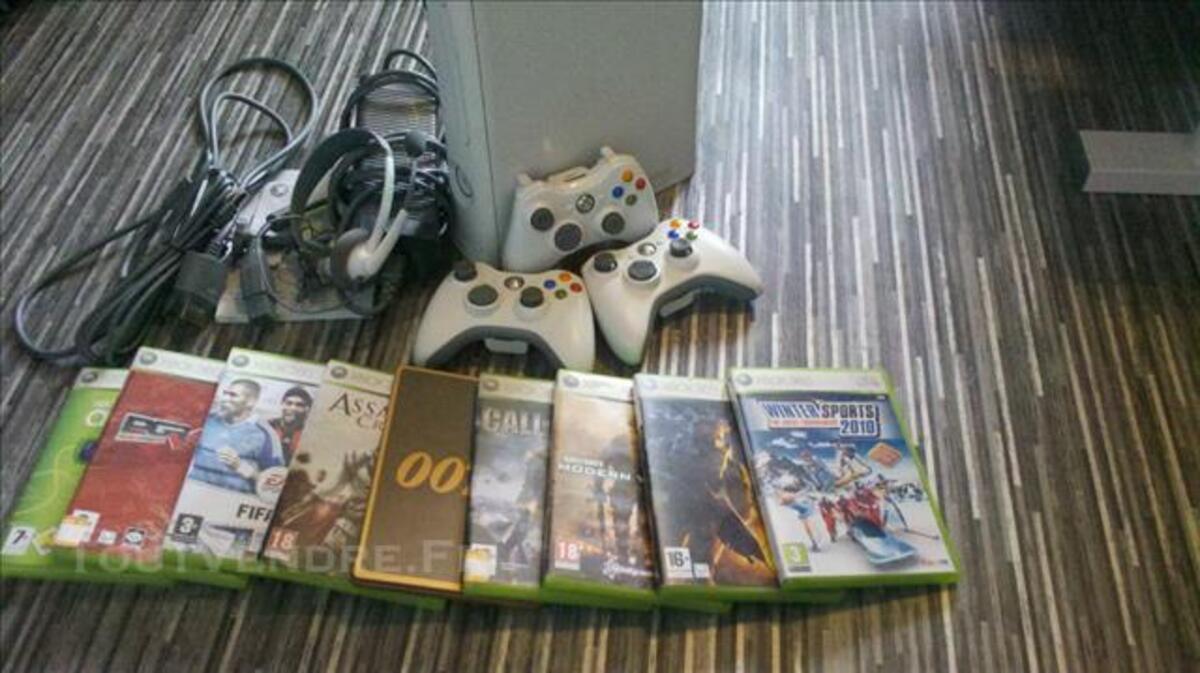 Xbox 360 + 3manettes + 9 jeux 84861041