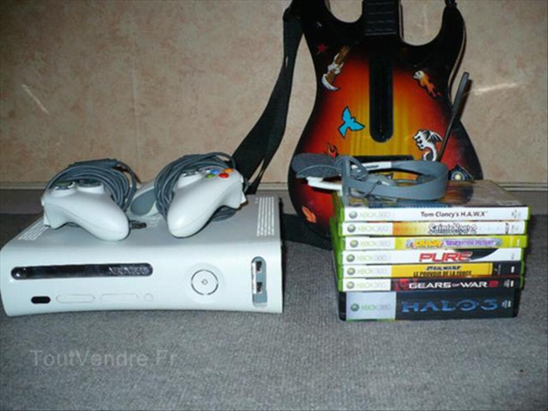 Xbox 360 + 8 jeux + Guitare 66138103