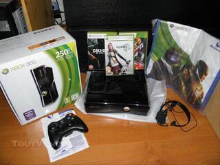 Xbox 360 SLIM - 250GO - 3 JEUX -3 ANS DE GARANTIE