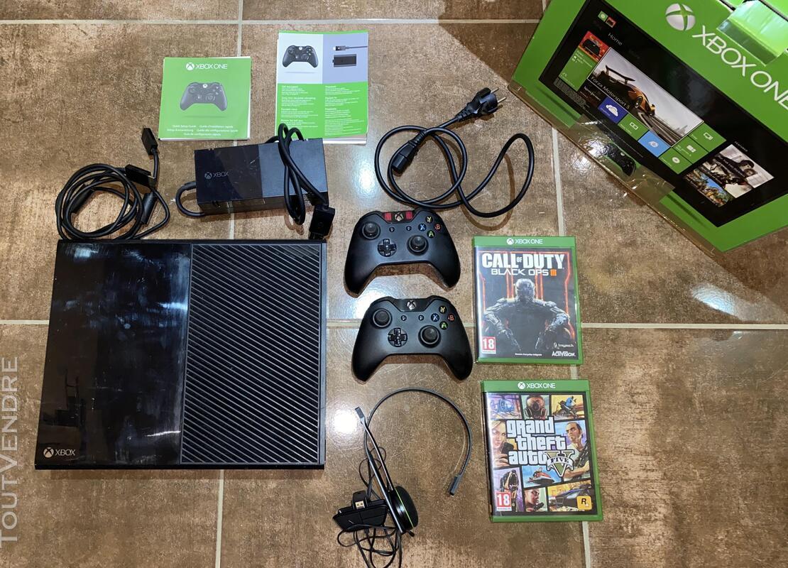 Xbox One + 2 manettes + 2 jeux + casque 677400289