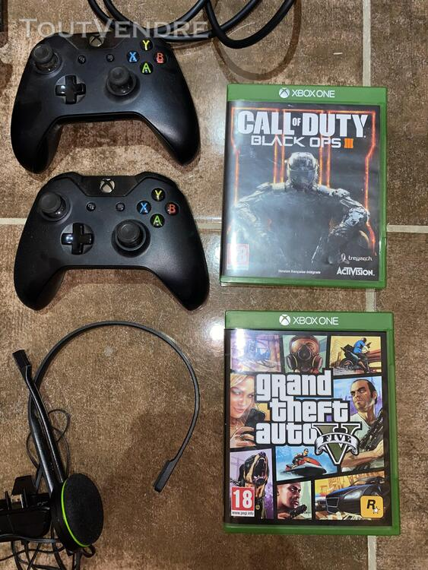 Xbox One + 2 manettes + 2 jeux + casque 677401138