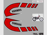 Yamaha TY125 (1K6) 75/79, Kit déco, stickers