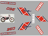 Yamaha TY250 85 (59N), Kit déco, stickers