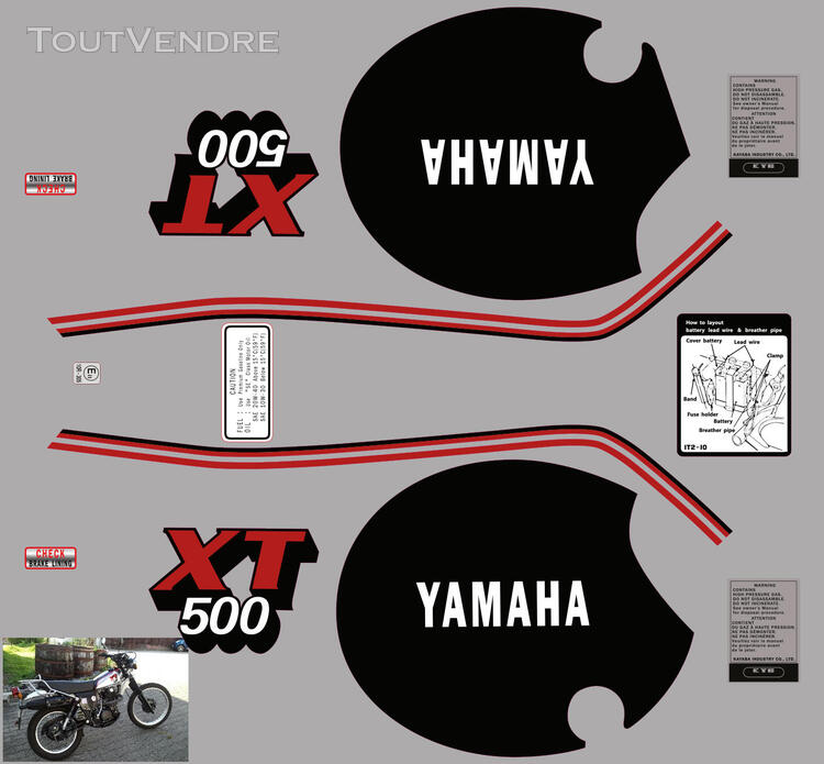 Yamaha XT 500 81 - 85, Kit déco stickers 634881876