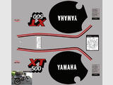 Yamaha XT 500 81 - 85, Kit déco stickers