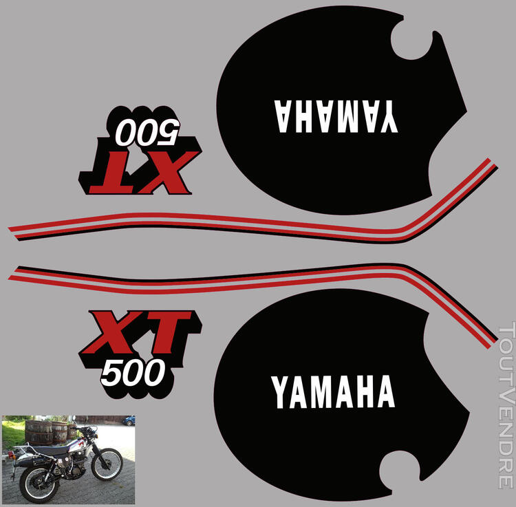 Yamaha XT 500 81 - 85, Kit déco stickers 634881879