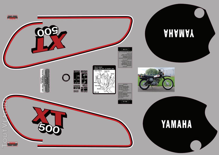 Yamaha XT 500 81 - 85, Kit déco stickers 634881888