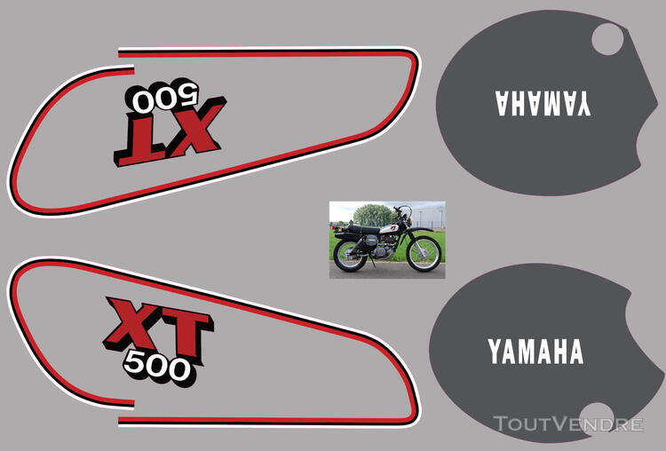 Yamaha XT 500 81 - 85, Kit déco stickers 634881891