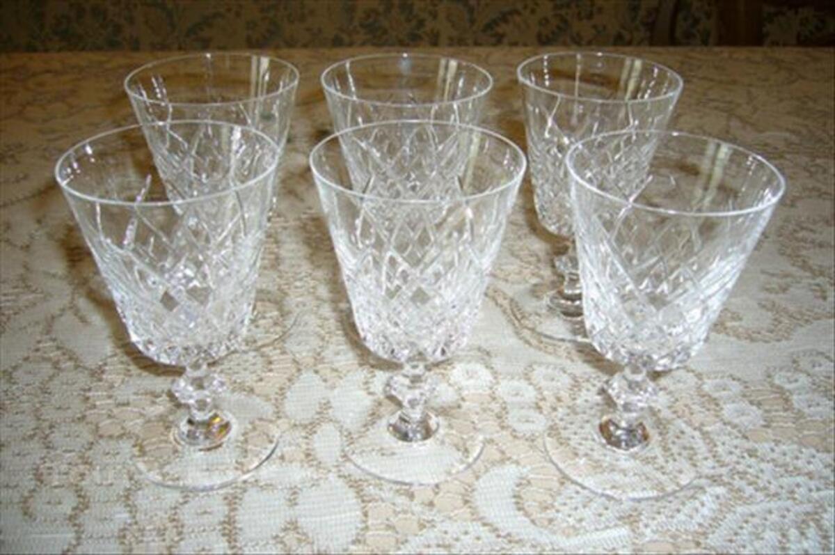6 verres cristal taille de sevres vannes le chatel saint aignan le jaillard 45600. Black Bedroom Furniture Sets. Home Design Ideas