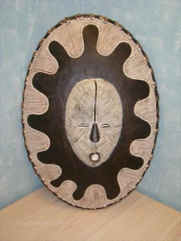Art Africain, masque bouclier Songye du Congo