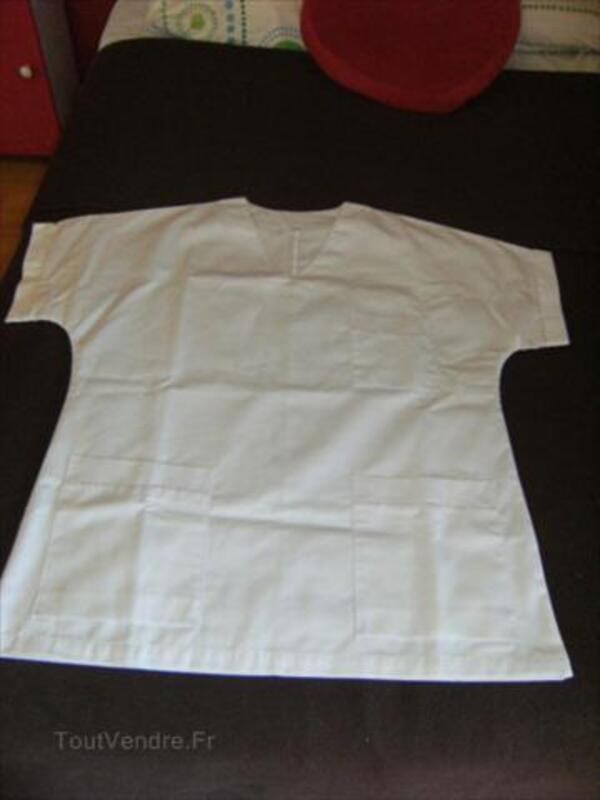 Blouse blanche manche courte