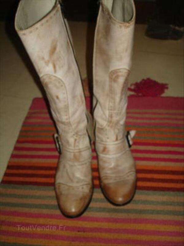 Bottes cuir italiennes Vero Cuoio, taille 40, très bon 66157204