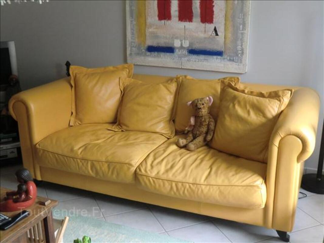 Canapé trois places duvivier en cuir